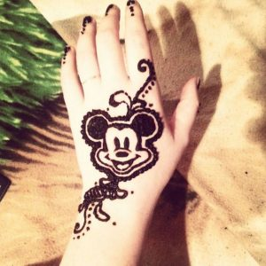 Cartoon Mehndi Design for Baby