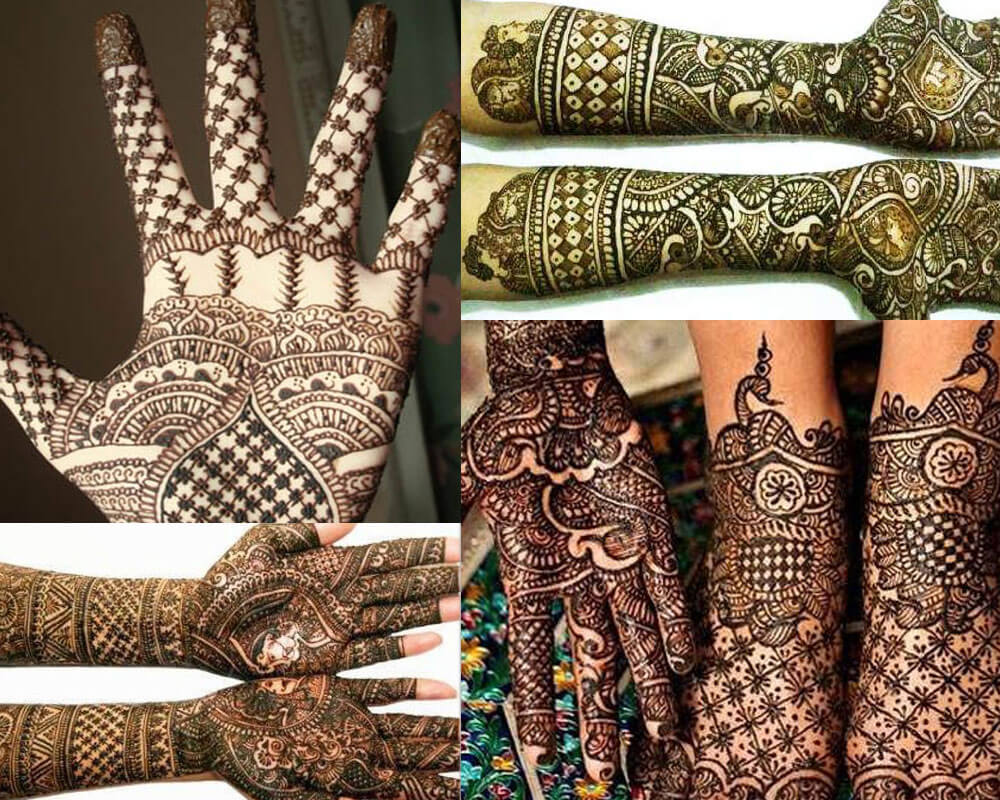 Chequered Mehndi Designs