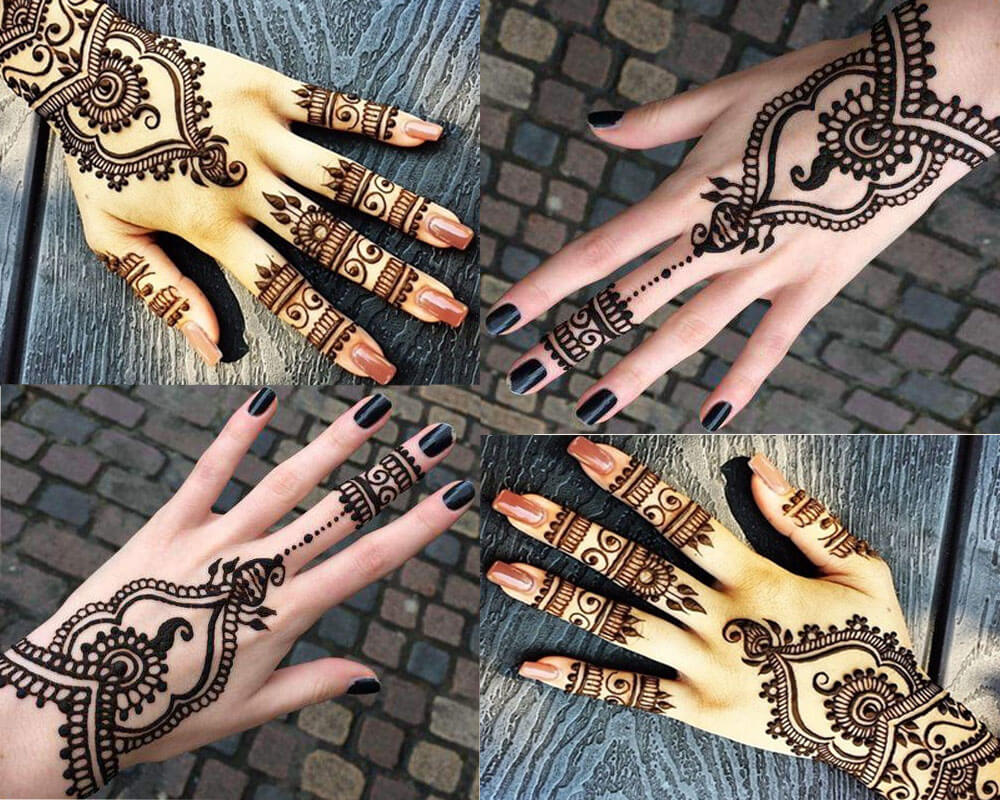 Phool Mehndi Designs