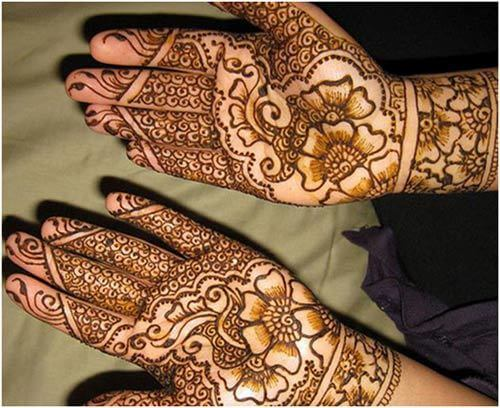 Shaded and traditional Mehndi Design