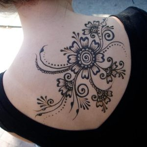 Side Pattern Henna Design