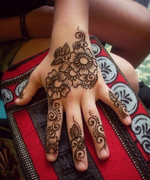 Arabic Mehndi Design for Kids
