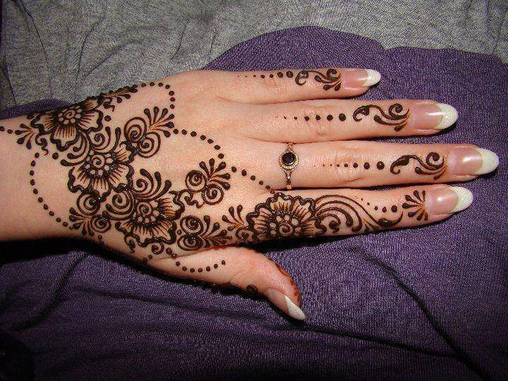 Best Floral Mehndi Design