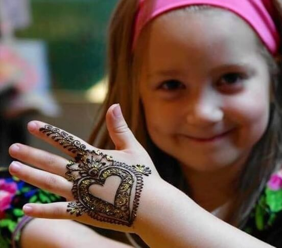 Collection of mehndi designs for kids