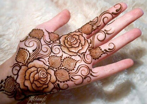 Floral Mehndi Design Ideas