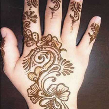Floral Mehndi Design for Hands