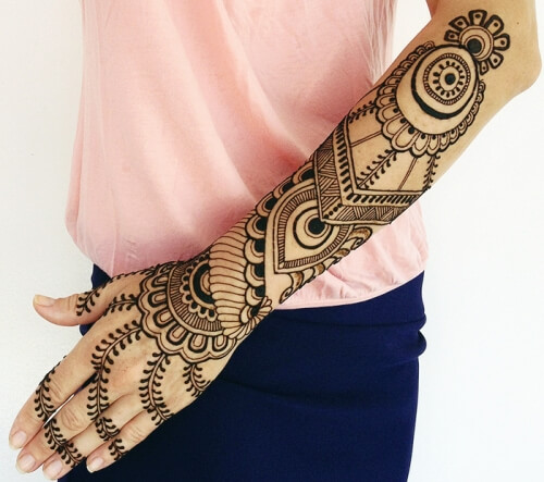 Arabic Henna Designs For Full Hands