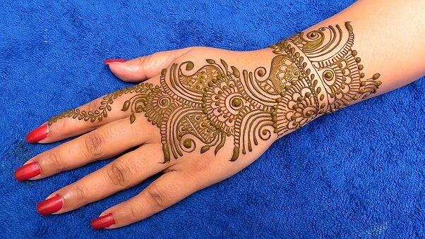 Back Side Arabic Mehndi Design