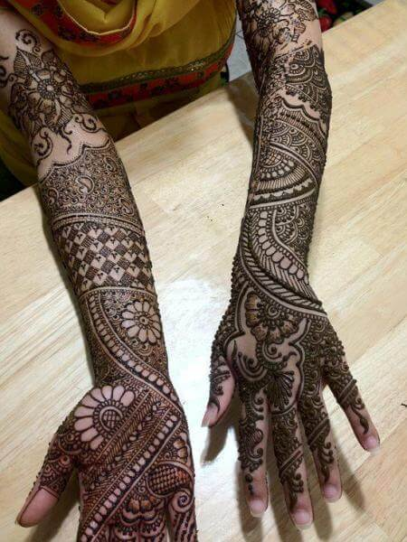 Bridal Mehandi Designs For Full Hands