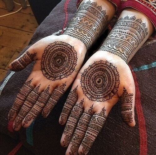 Circular Mehndi Design for Palms