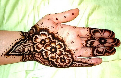 Contemporary Mehndi Design for Palms