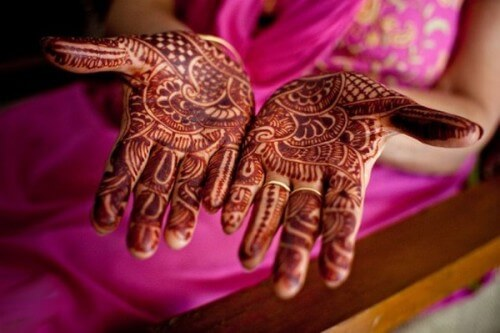 Dark Brown Color Bridal Mehandi