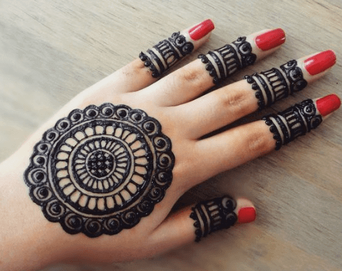 Dark Mehndi Design