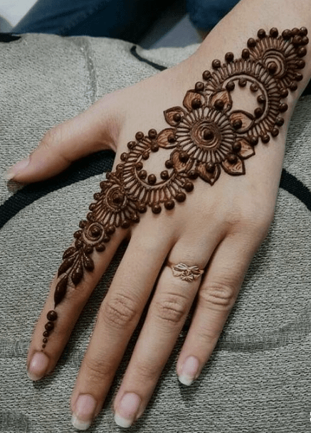 Easy Mehndi Design for Back Hand