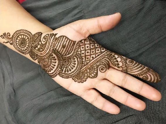 Full Element Arabic Mehndi Design