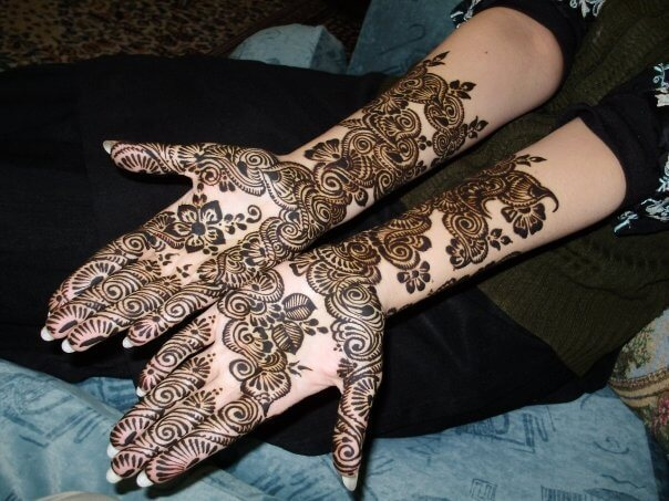Full Hand Gulf-Arabic Mehndi Design