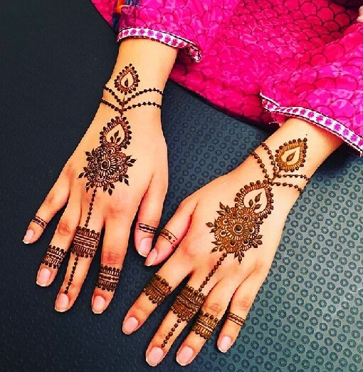Jewellery Style Arabic Mehndi Design