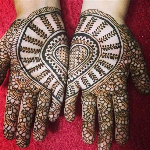 Joining Hearts Mehndi Design for Palms