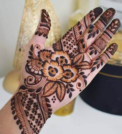 Mixed Best Arabic Mehndi Design