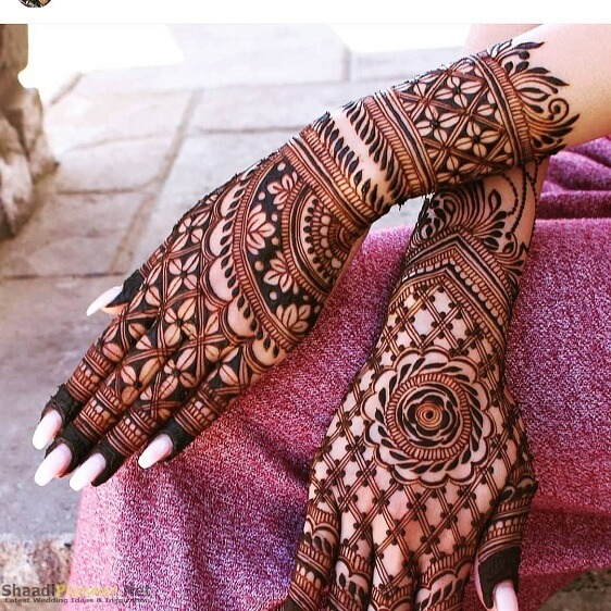 Net Pattern Arabic Mehndi Design