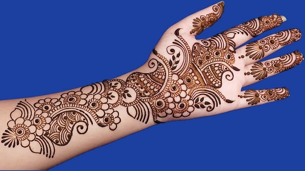 Peacock Arabic Henna Design