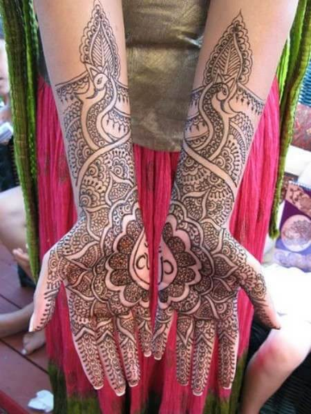 Peacock Bridal Mehandi Designs