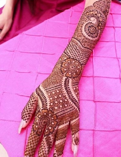 Stretched Full Floral Wedding Mehndi Designs