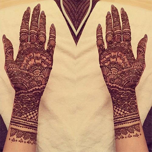 The Best Cross Floral Mehndi Design