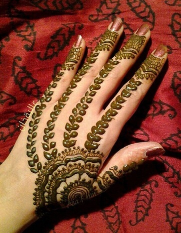 The Modern Leaf Mehndi Design