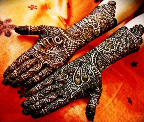The Thick Black Mehndi For Brides