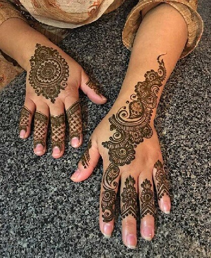 Trendy Mehandi Designs For Both Hands