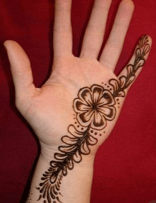Very Easy Mehndi Designs for Beginners